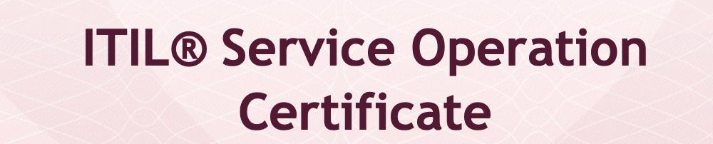 ITIL Operacion de Servicio